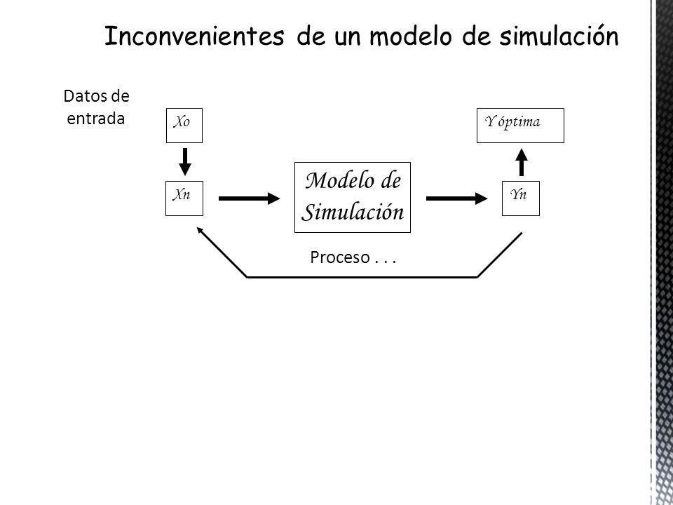 Inconvenientes de un modelo de simulación