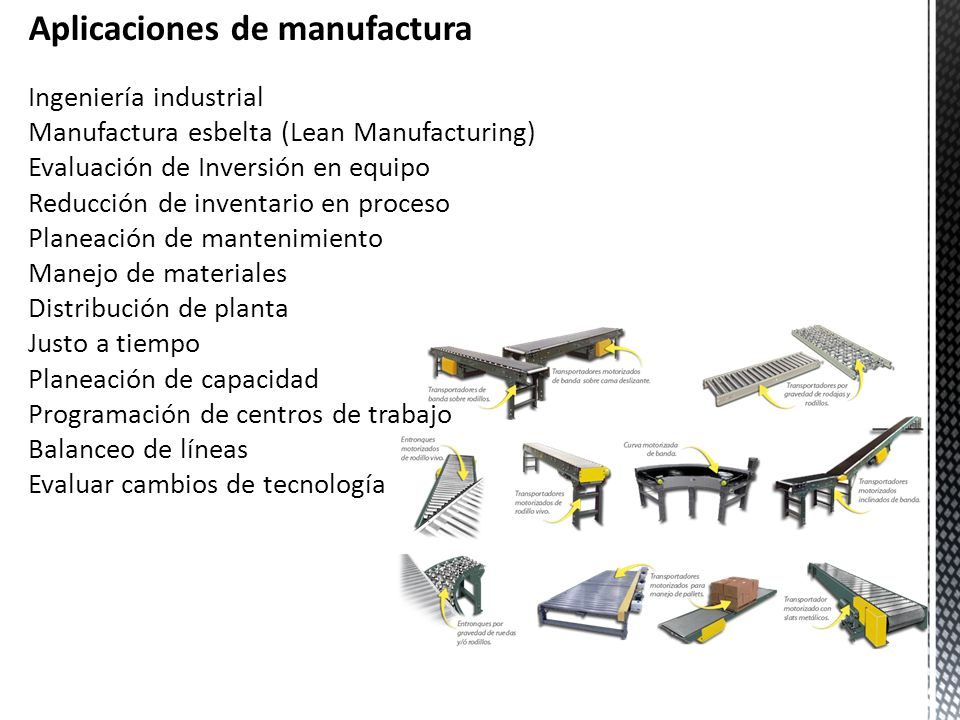 Aplicaciones de manufactura