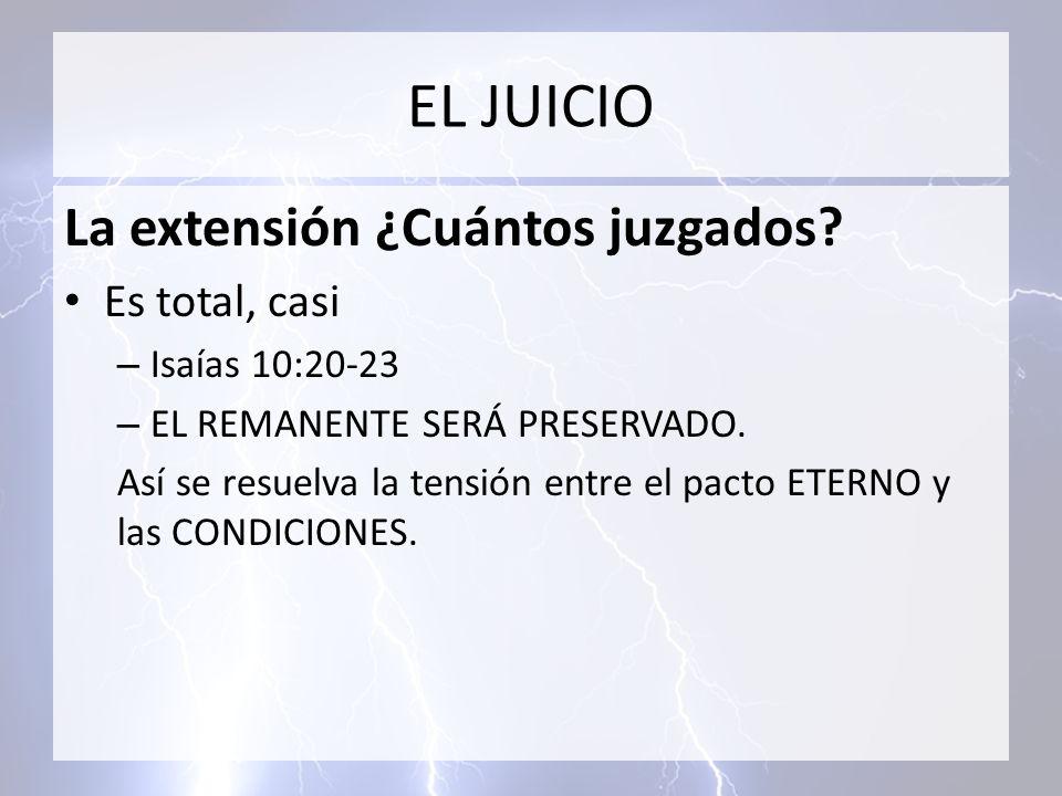 EL JUICIO La extensión ¿Cuántos juzgados Es total, casi