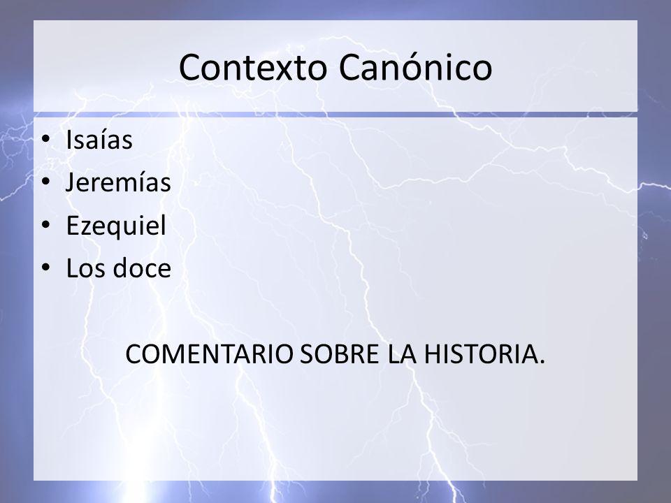 COMENTARIO SOBRE LA HISTORIA.
