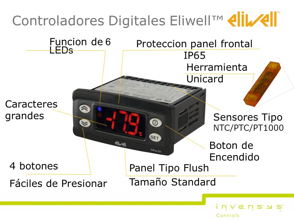 Proteccion panel frontal IP65