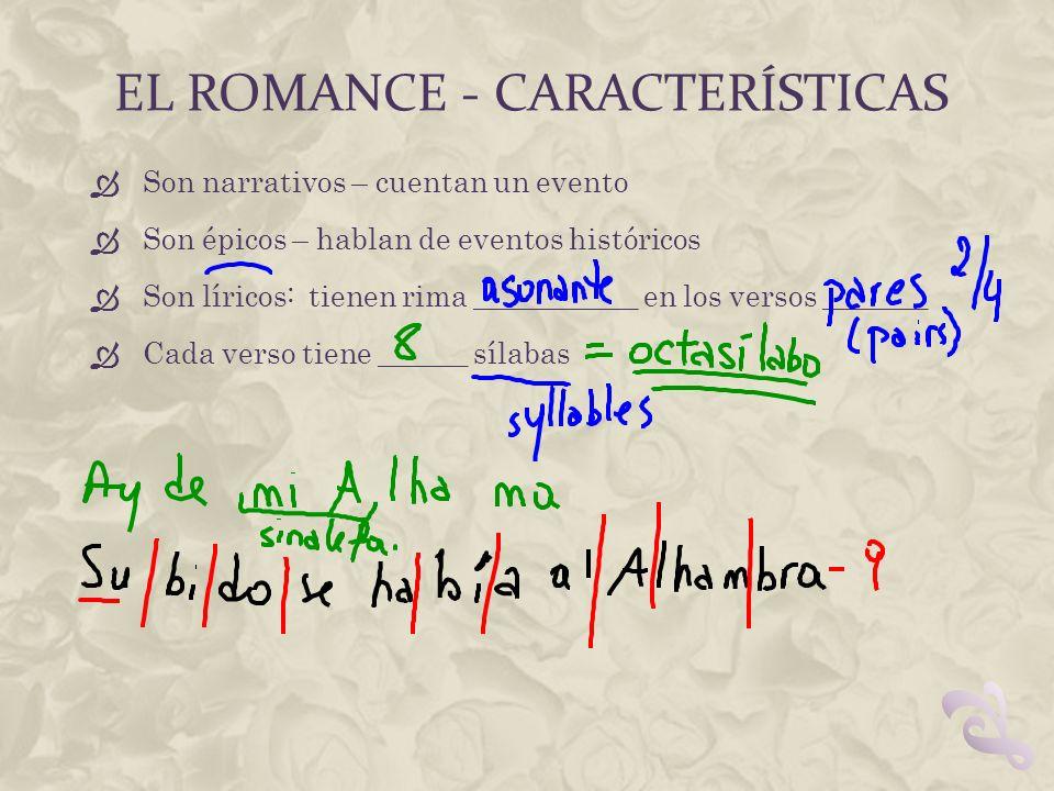 El romance - características