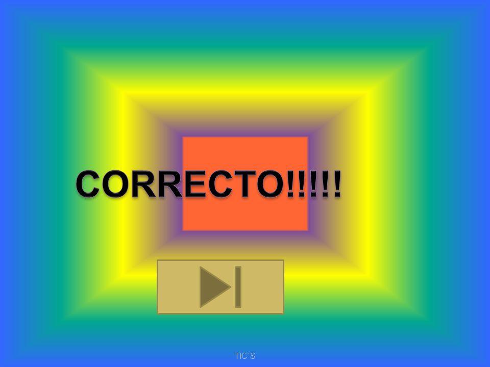 CORRECTO!!!!! TIC´S