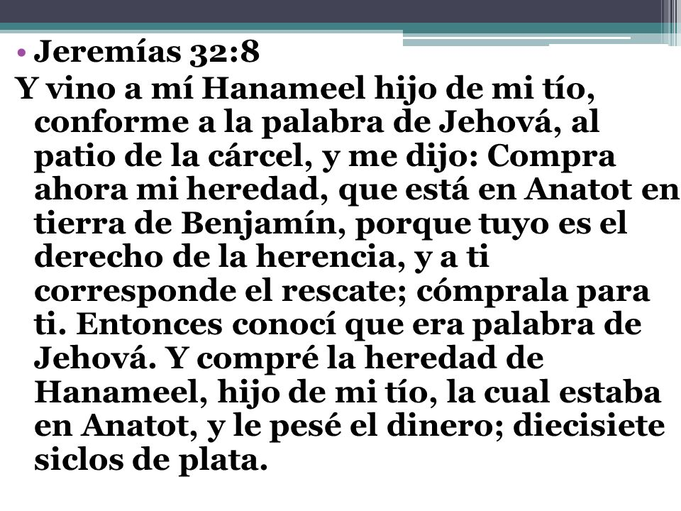 Jeremías 32:8