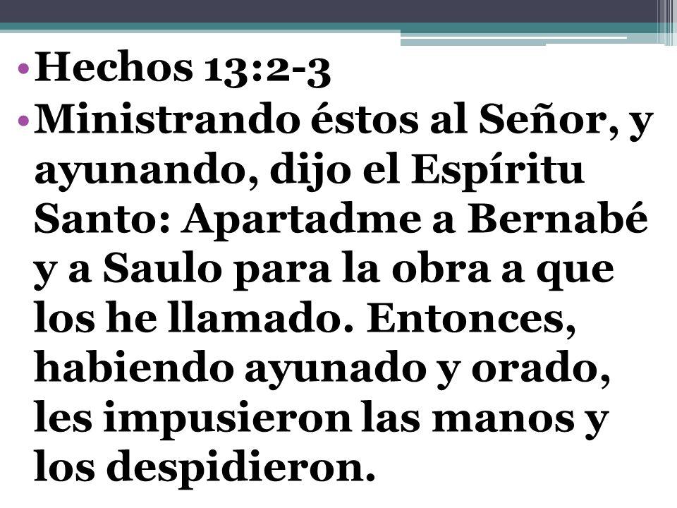 Hechos 13:2-3