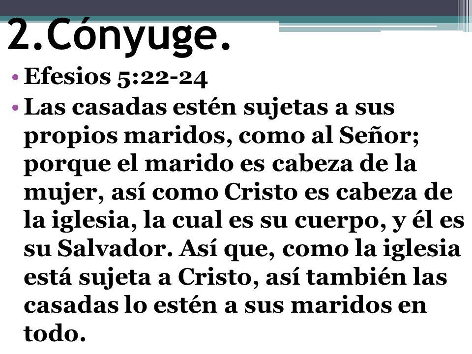 Cónyuge. Efesios 5:22-24.