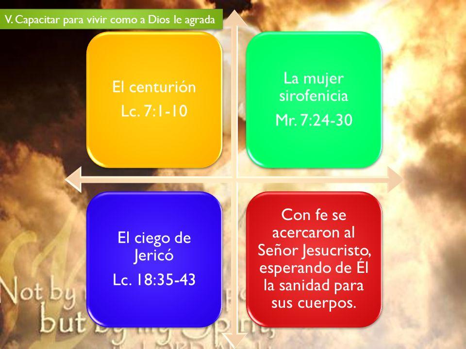 La mujer sirofenicia El centurión Lc. 7:1-10 Mr. 7:24-30
