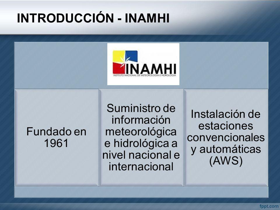 Instalación de estaciones convencionales y automáticas (AWS)