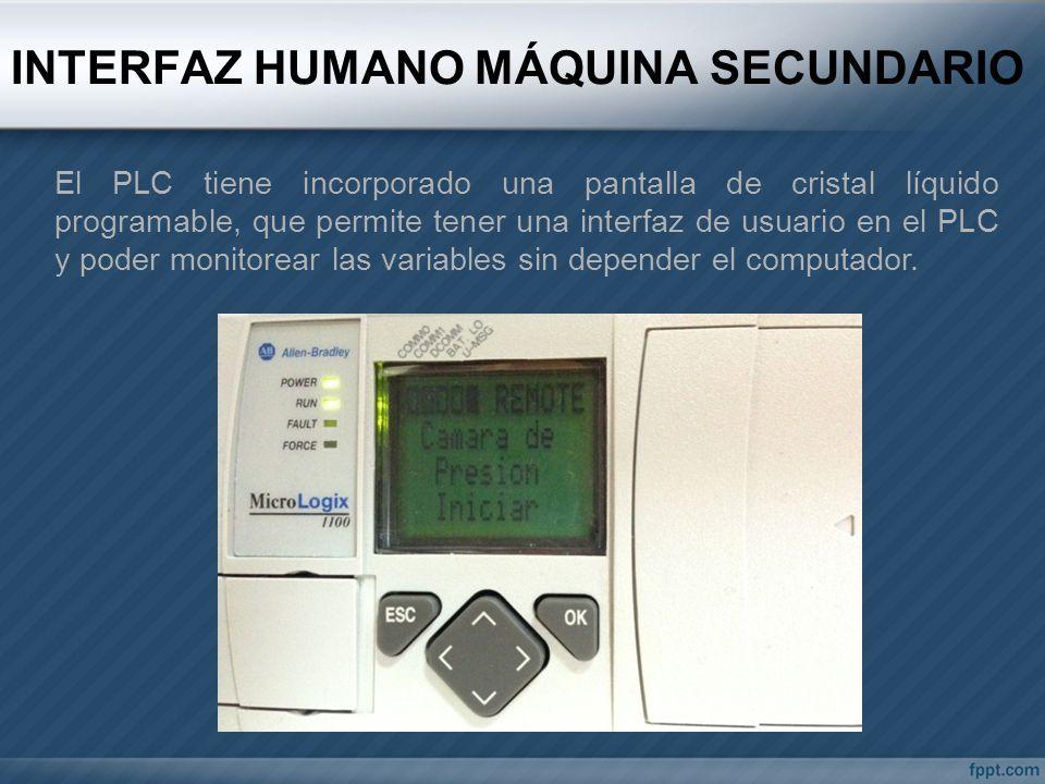 INTERFAZ HUMANO MÁQUINA SECUNDARIO