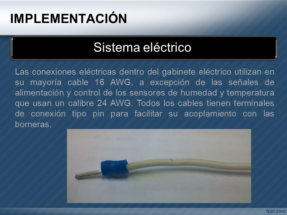 IMPLEMENTACIÓN Sistema eléctrico