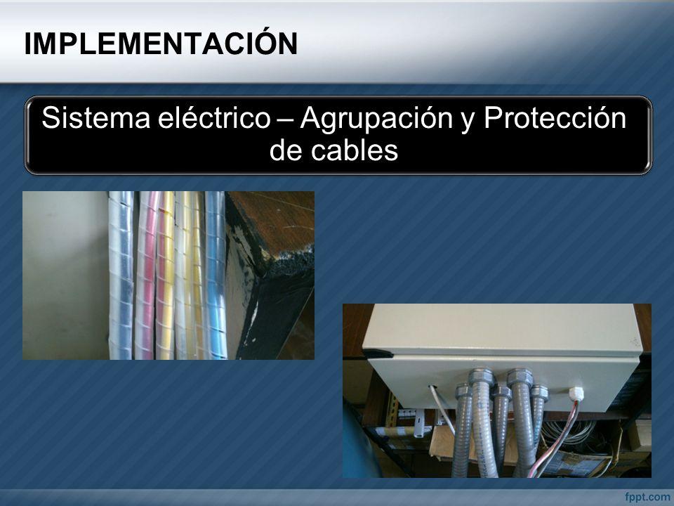 Sistema eléctrico – Agrupación y Protección de cables