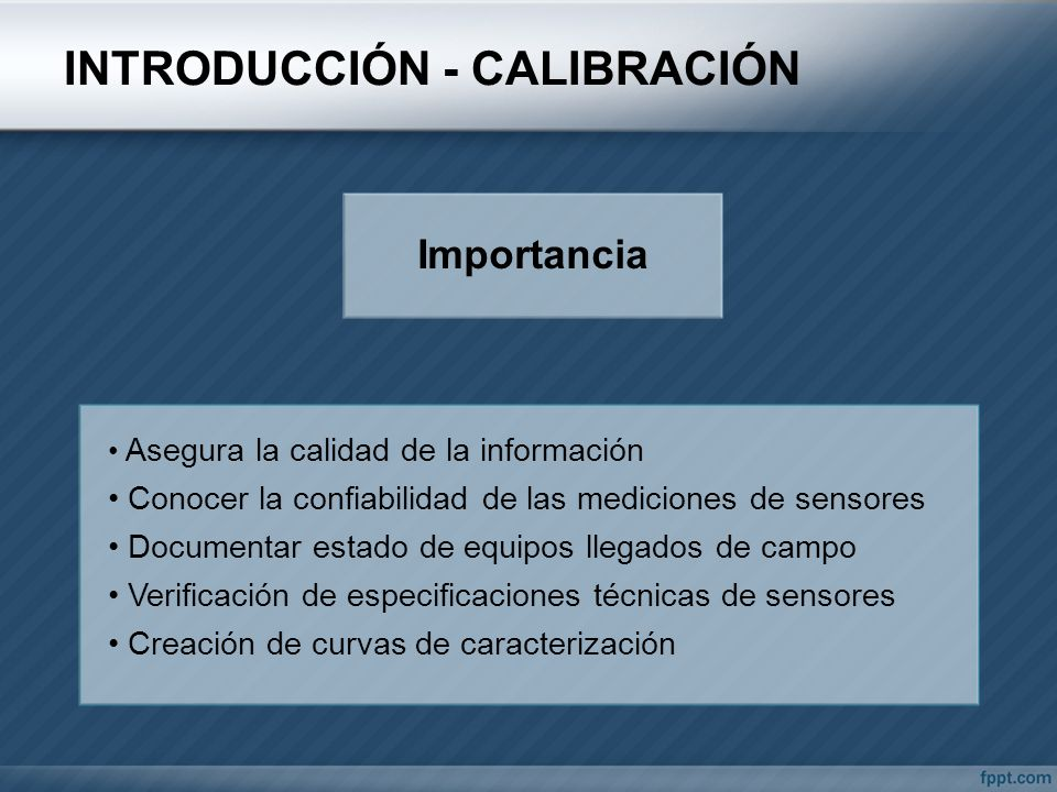 INTRODUCCIÓN - CALIBRACIÓN