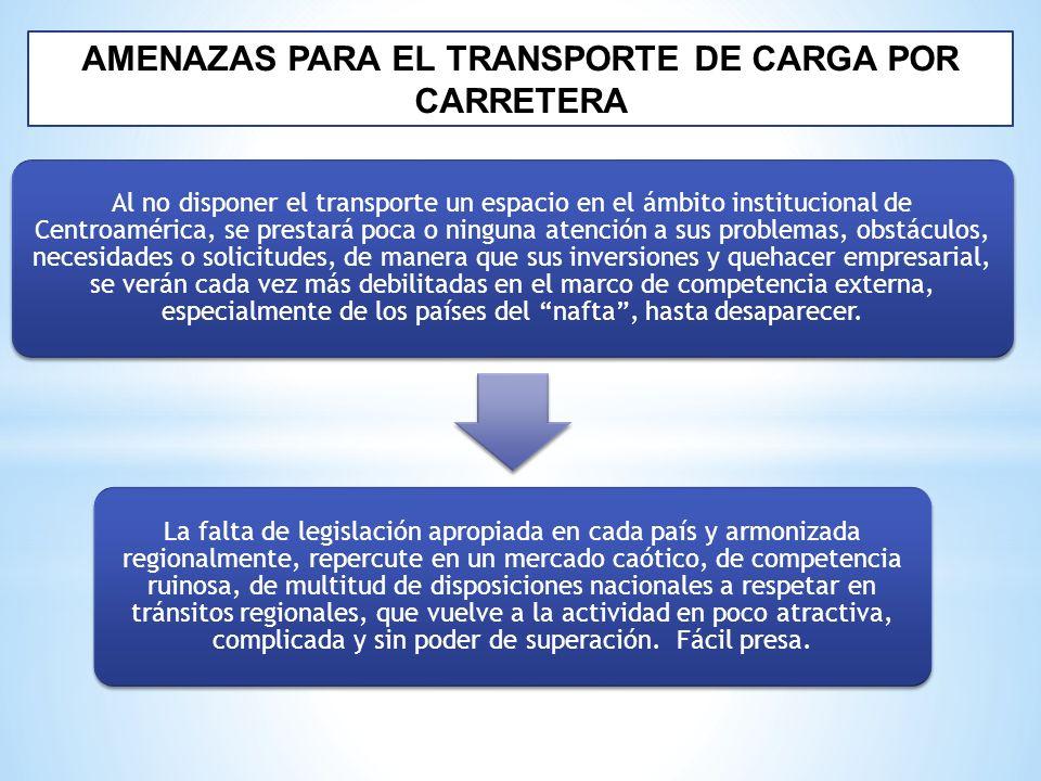 AMENAZAS PARA EL TRANSPORTE DE CARGA POR CARRETERA