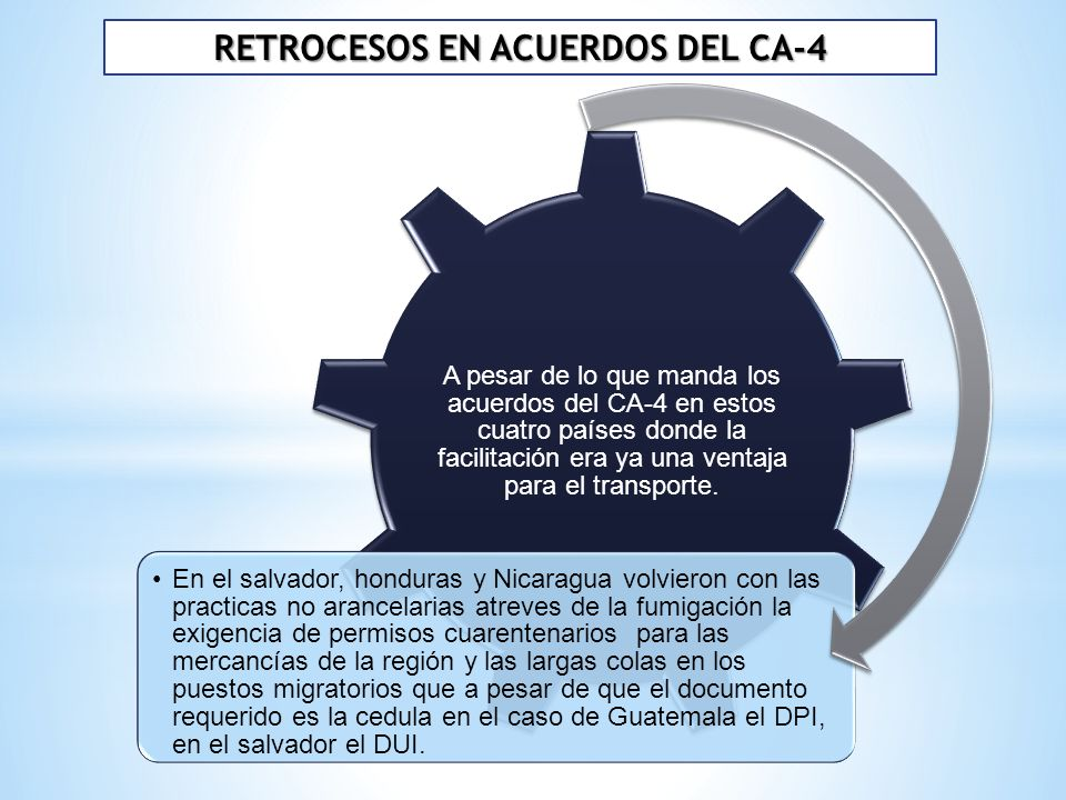 RETROCESOS EN ACUERDOS DEL CA-4