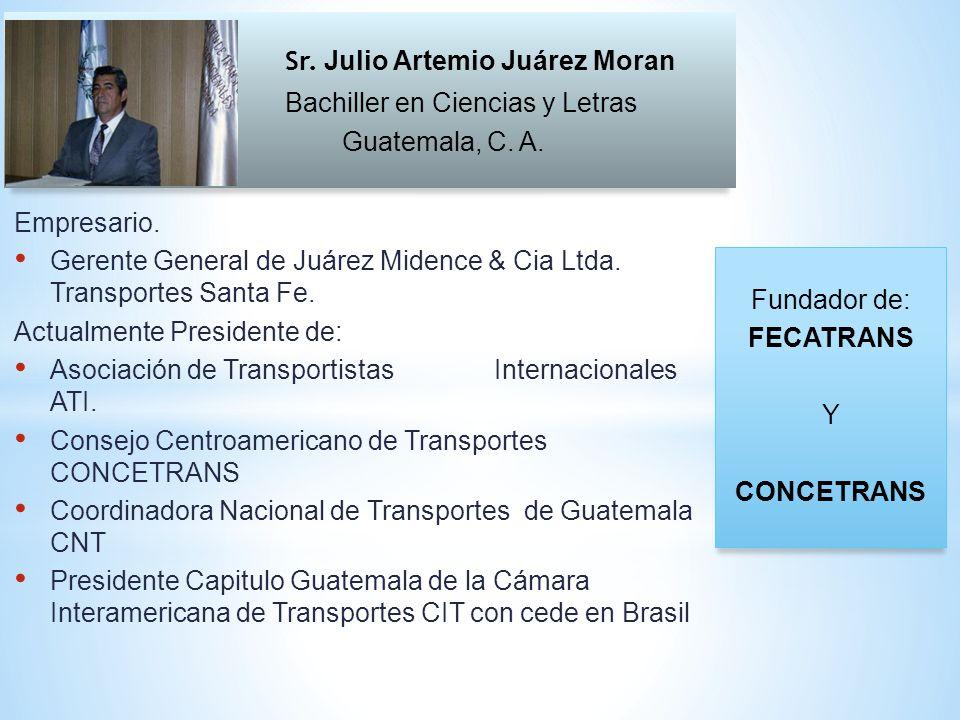 Sr. Julio Artemio Juárez Moran