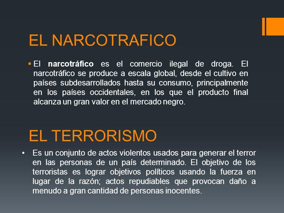 EL NARCOTRAFICO EL TERRORISMO