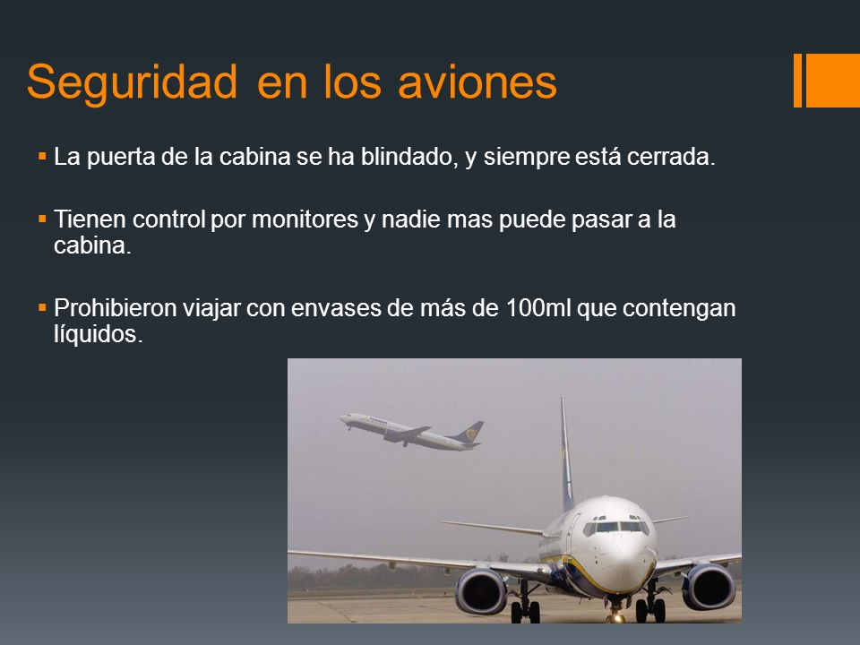 Seguridad en los aviones