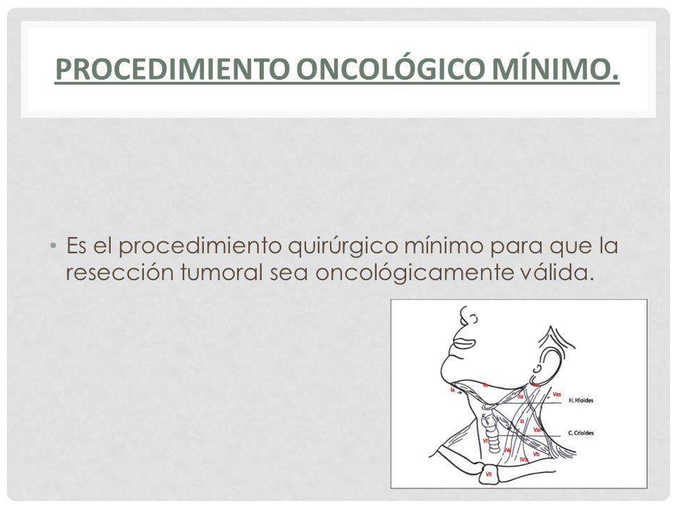 Procedimiento ONCOLÓGICO Mínimo.