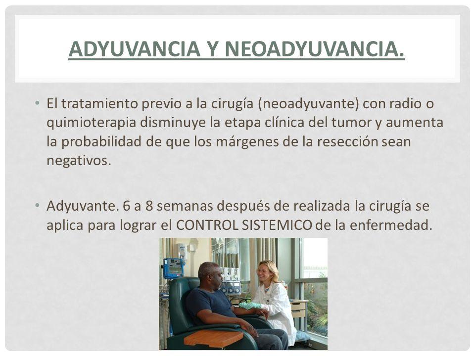 Adyuvancia y Neoadyuvancia.