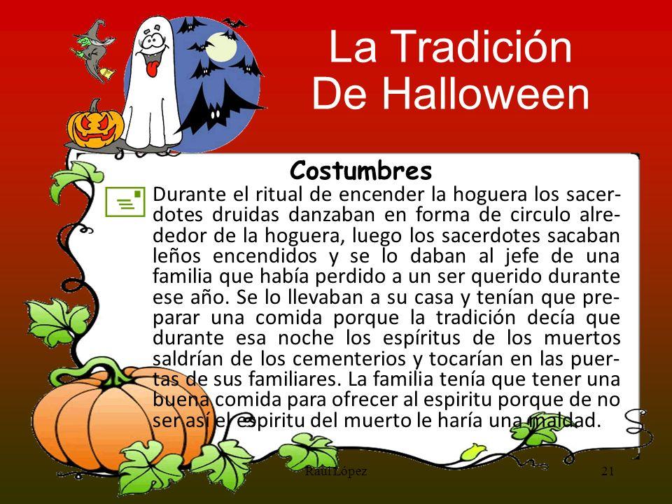 La Tradición De Halloween + Costumbres
