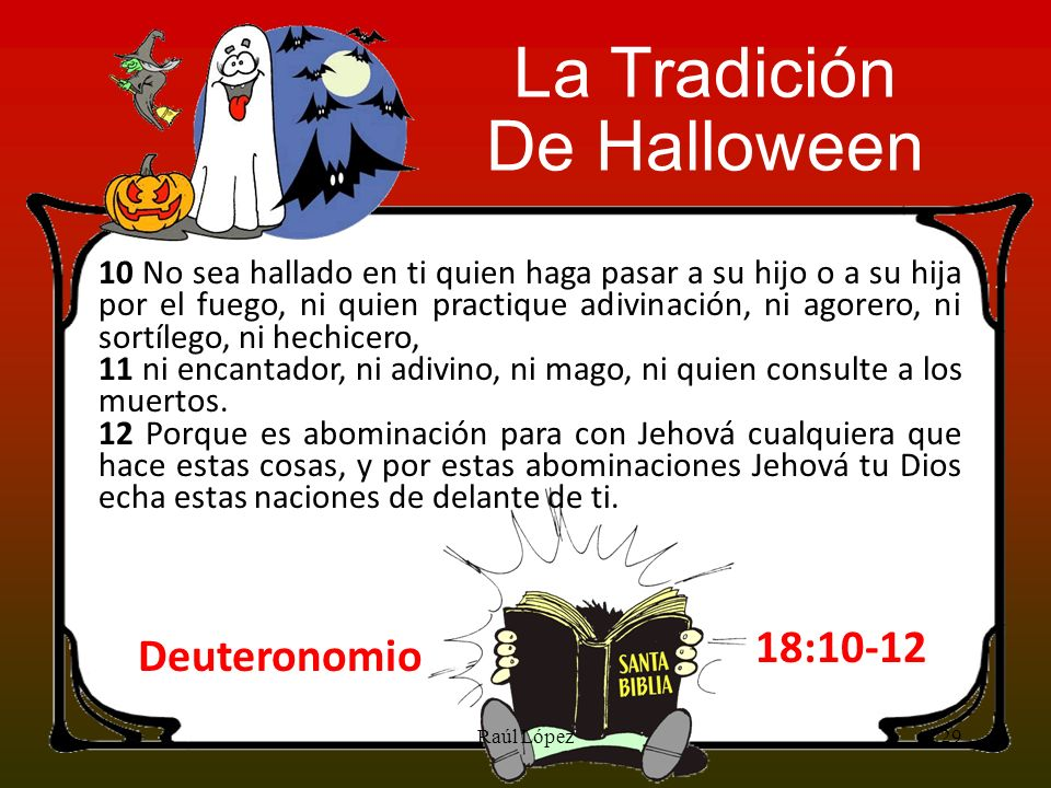 La Tradición De Halloween 18:10-12 Deuteronomio