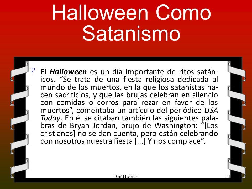Halloween Como Satanismo