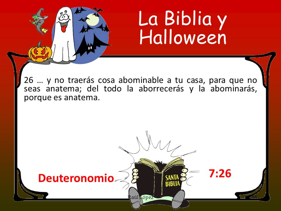 La Biblia y Halloween 7:26 Deuteronomio