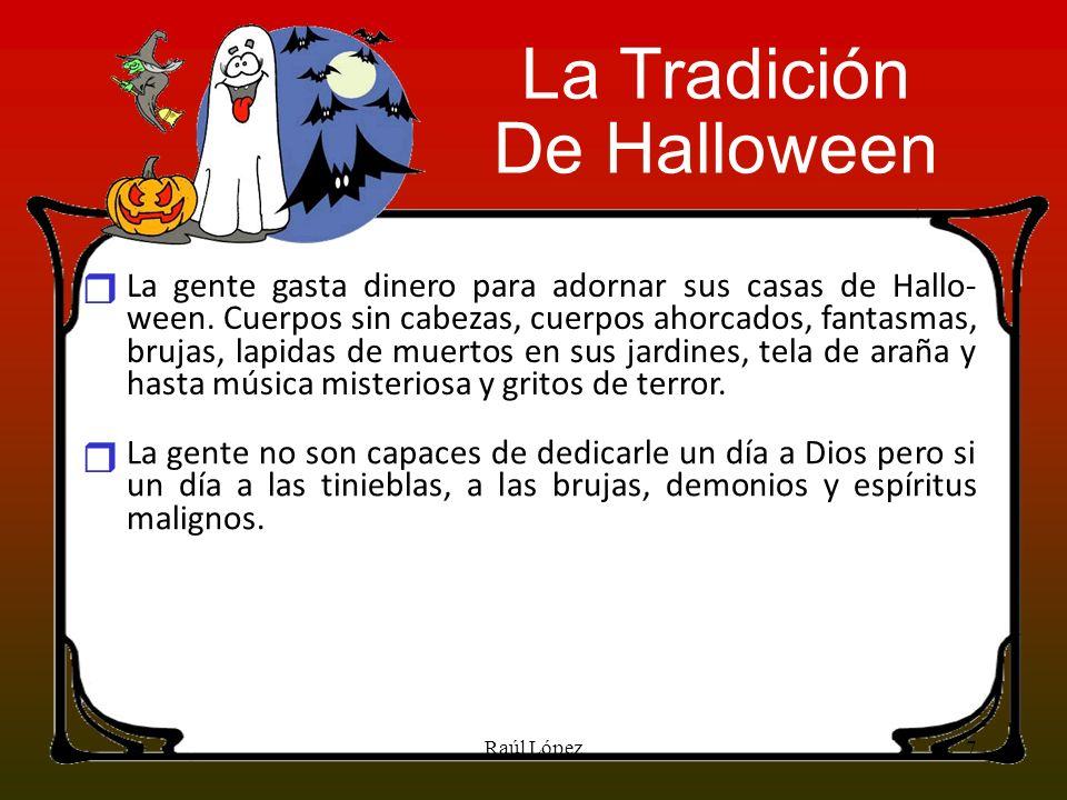 La Tradición De Halloween r r