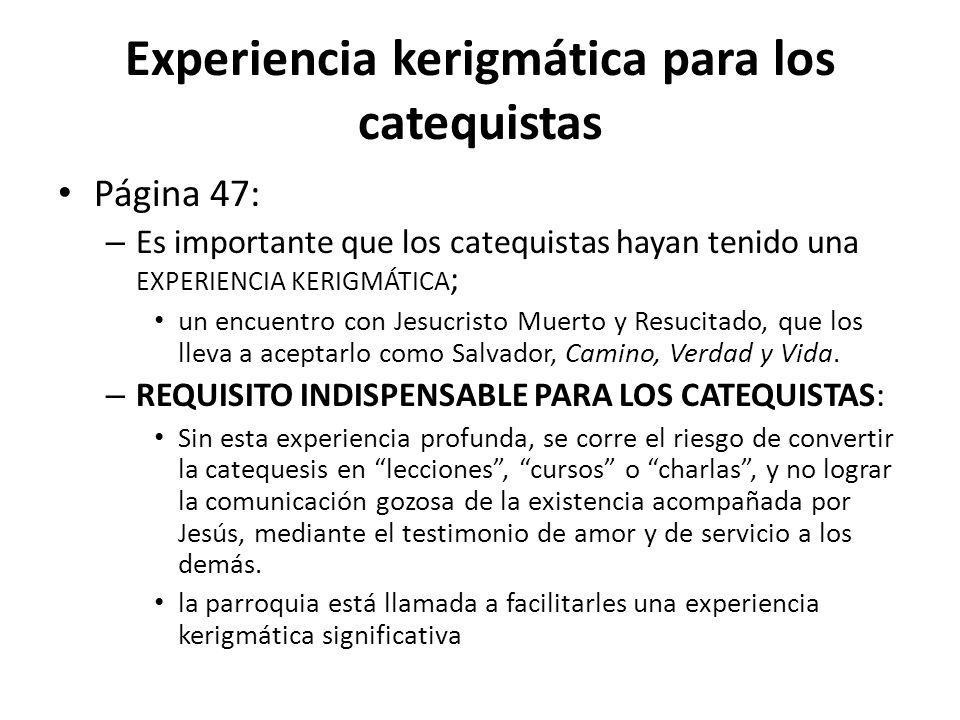 Experiencia kerigmática para los catequistas