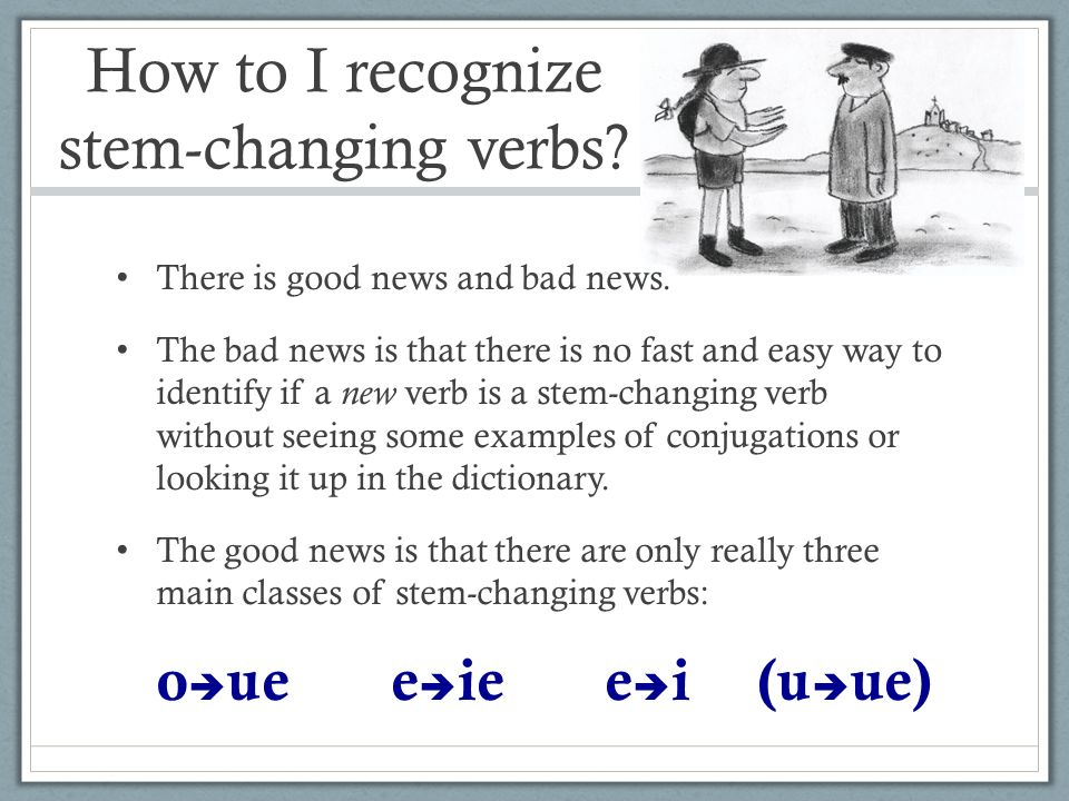 How to I recognize stem-changing verbs