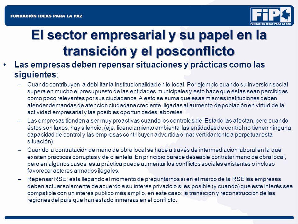 El sector empresarial y su papel en la transición y el posconflicto