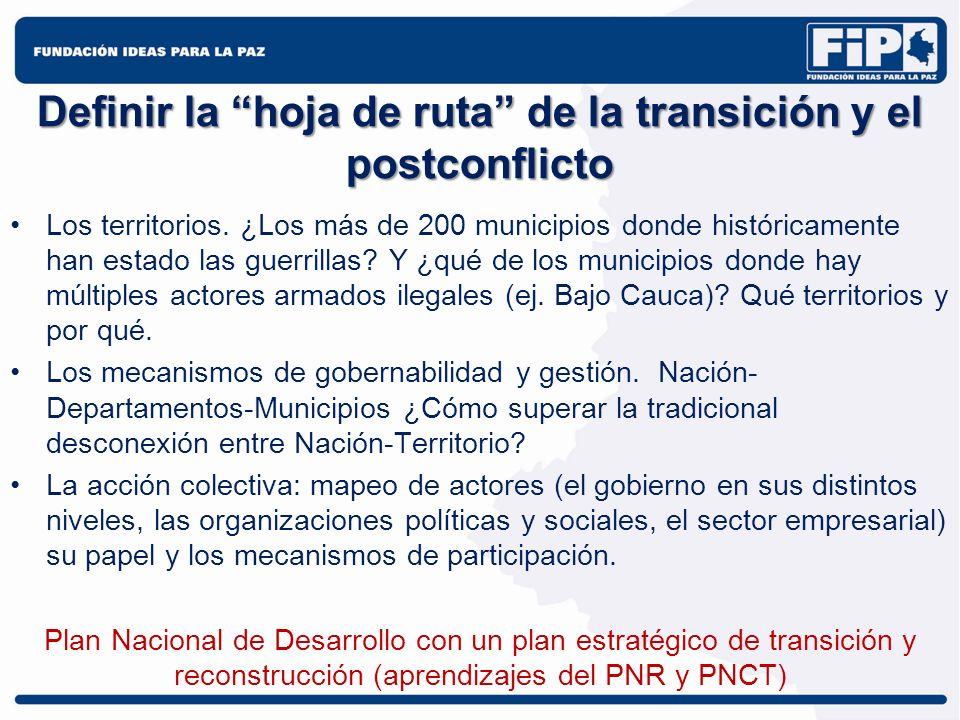 Definir la hoja de ruta de la transición y el postconflicto