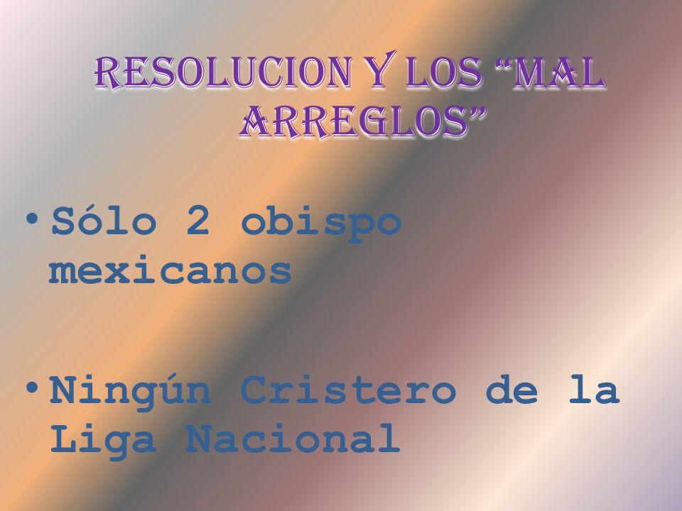 RESOLUCION Y LOS MAL ARREGLOS