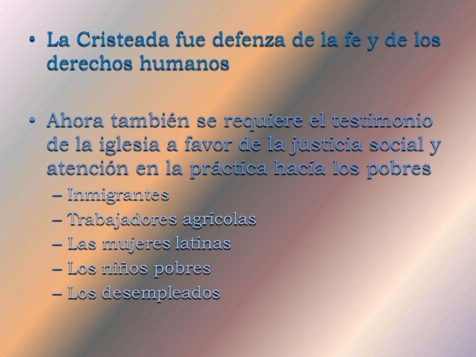 La Cristeada fue defenza de la fe y de los derechos humanos
