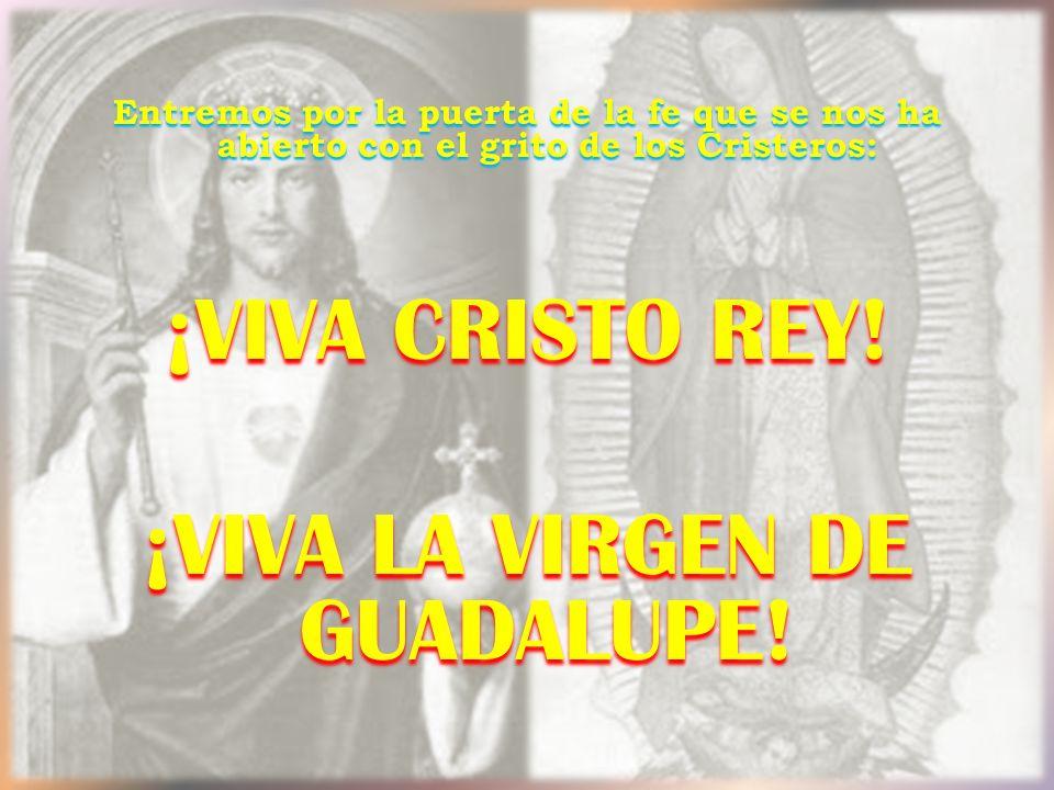 ¡Viva la Virgen de Guadalupe!