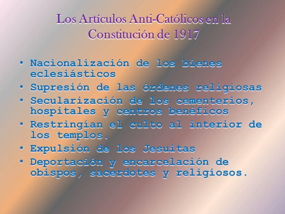 Los Artículos Anti-Católicos en la