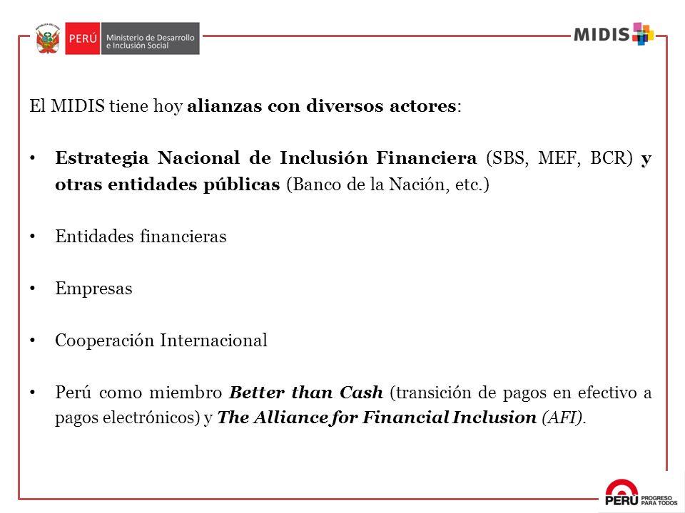 El MIDIS tiene hoy alianzas con diversos actores: