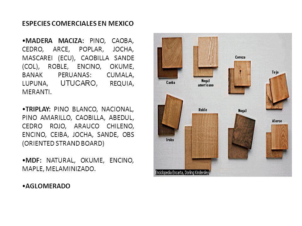 ESPECIES COMERCIALES EN MEXICO
