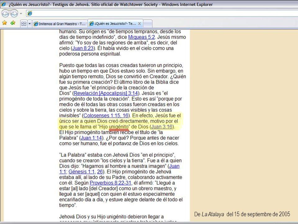 De La Atalaya del 15 de septiembre de 2005