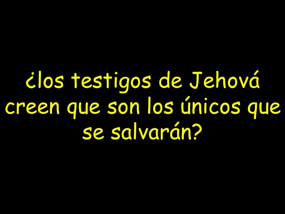 ¿los testigos de Jehová creen que son los únicos que se salvarán
