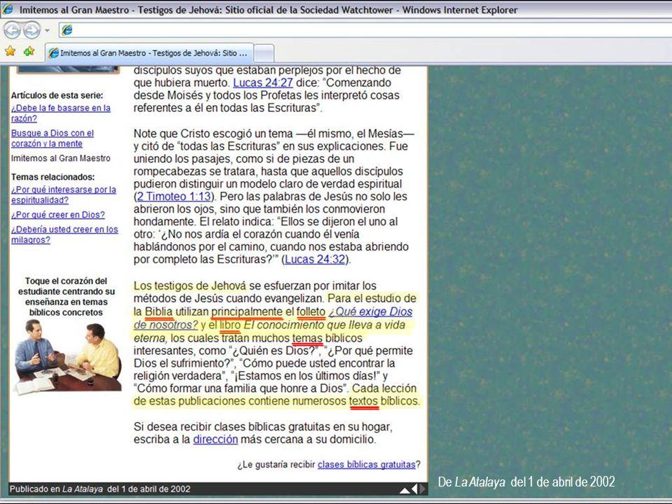 De La Atalaya del 1 de abril de 2002
