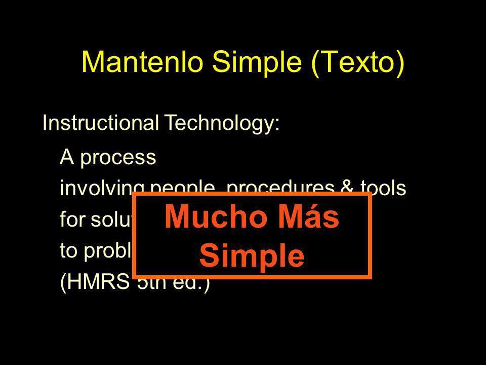 Mantenlo Simple (Texto)