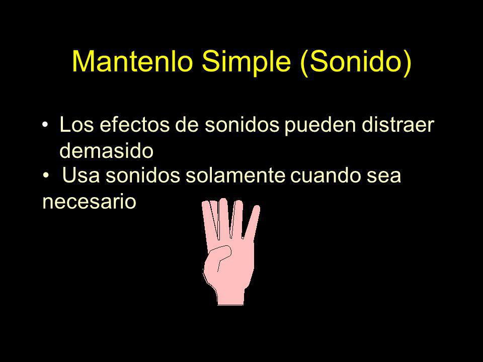 Mantenlo Simple (Sonido)