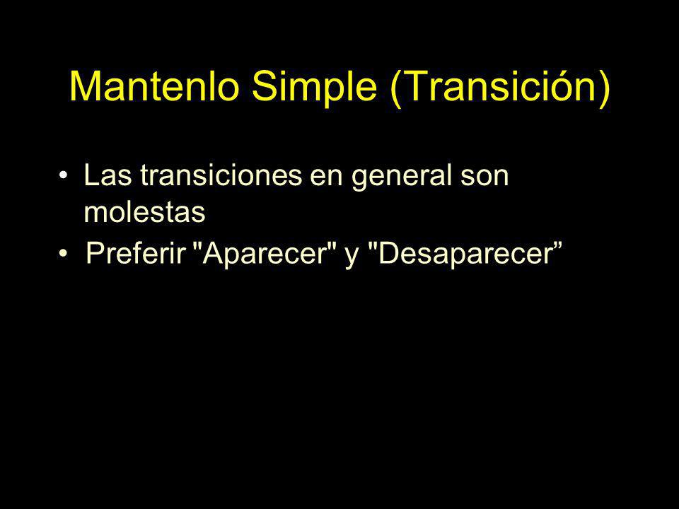 Mantenlo Simple (Transición)