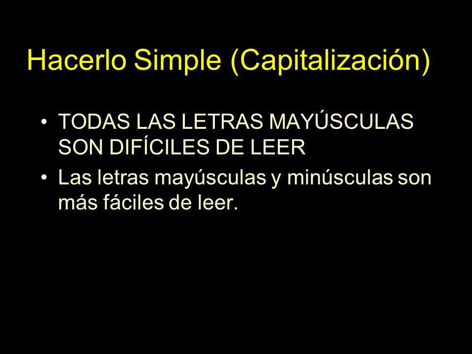 Hacerlo Simple (Capitalización)