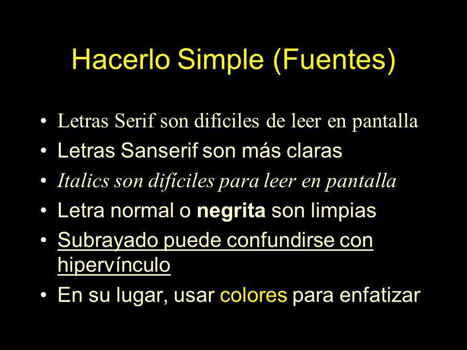 Hacerlo Simple (Fuentes)