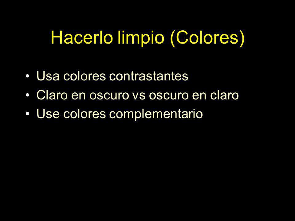 Hacerlo limpio (Colores)