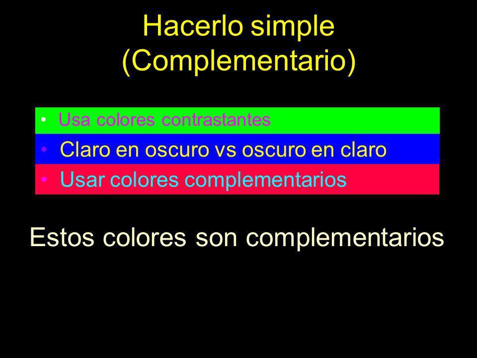 Hacerlo simple (Complementario)