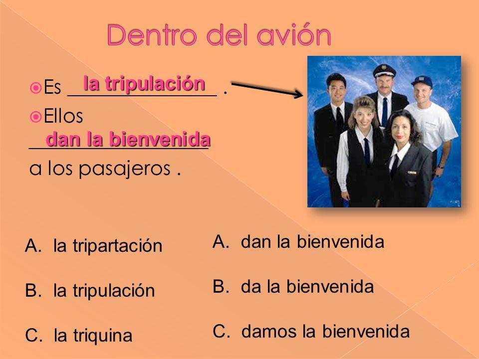 Dentro del avión la tripulación Es _______________ .