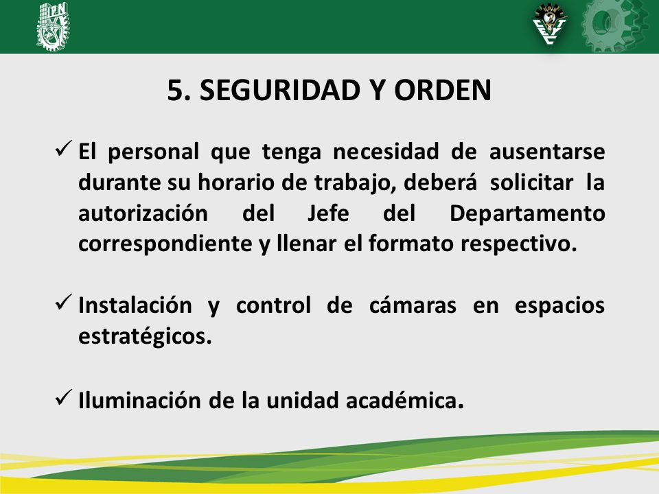 5. SEGURIDAD Y ORDEN